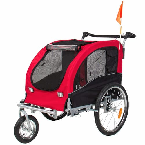 Best Choice 2 in 1 Dog Bike Trailer and Stroller